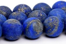 10MM Natural Matte Lapis Lazuli Gemstone Beads Grade A Round Loose Beads 16""