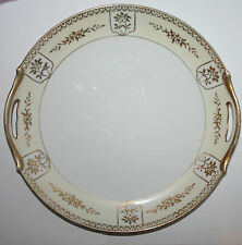 Antique Noritake Morimura Hand Decorated Gold Gilt Bone China Cake Cabinet Plate