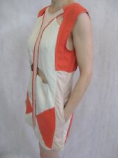 Sass and Bide Size 40 or 10 Orange Grey Geometric Mini Dress