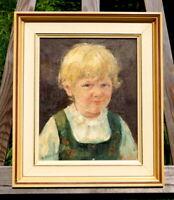exquisites Ölgemälde signiert Schneider Kinderportrait Charakterkopf Öl auf LW
