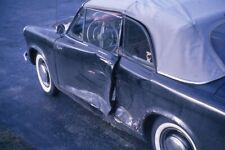 1958? HILLMAN MINX CONVERTIBLE WITH DRIVER SIDE DAMAGE 1965 35mm PHOTO SLIDE