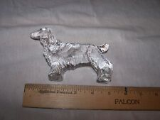 English Springer Spaniel Figural Glass Dog Paperweight