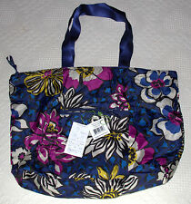 Vera Bradley Tote in a Pouch - African Violet #14276-165 - w Folding Instr.  NWT