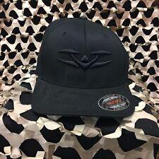 New Valken V Logo FlexFit Hat - Black/Black - Large/X-Large