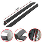 2pc 48.5CM Door Sill Carbon Fiber Car Scuff Plate Cover Panel Step Protector