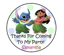 LILO & STITCH PERSONALIZED BIRTHDAY THANK YOU FOR COMING PARTY STICKERS FAVORS