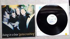 "DISQUE VINYL 33T LP MUSIQUE/ LVING IN A BOX ""GATECRASHING"" 9T ALBUM 1989 ELECTRO"