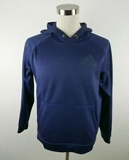 Adidas Mens Polyester Clima Warm LS Heather Navy Blue Hoodie Sweatshirt Medium