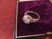 Eleganter Silber 925 Ring Zirkonia Wie Diamant Kristall Entourage Modern