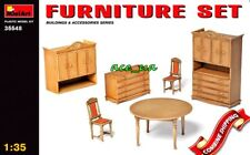 Furniture Set Building Accessories (WWII Military Diorama) 1/35 Miniart 35548