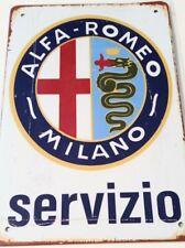 Alfa Romeo Italian Cars Tin Metal Poster Sign Vintage Ad Style Man Cave Racing 1
