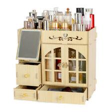 Desk Organizers Wood Office Dormitory Desktop Cosmetics Lipstick Diy Storage Box