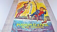 bourvil de funes POISSON D'AVRIL ! affiche cinema peche  1954 + affiche promo