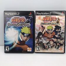 Naruto: Uzumaki Chronicles + Ultimate Ninja Game Lot - PlayStation 2 PS2