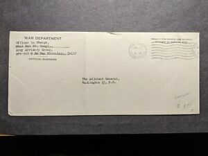 APO 917 SHANGHAI, CHINA Official Army Cover post WWII