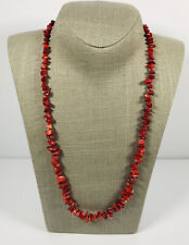 80s Vintage Necklace Graduated Red Jasper Pretty Bohemian Costume Jewellery