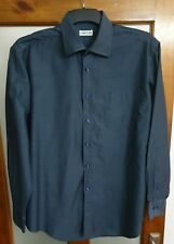 51925693ad2 CERRUTI 1881 Long Sleeve Shirt Size 17/43 Mens Blue Top Casual Formal 100%