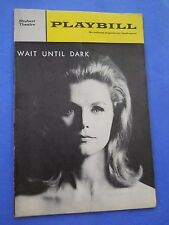 September 1 - 1966 - The Shubert Theatre - Wait Until Dark - Lee Remick