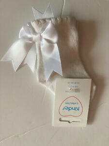 Baby Girls White Socks With Large Bow Bnwt