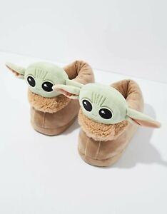 Baby Yoda Mandorlian Unisex Novelty Plush Warm Snug Slippers Mens Womens Kids