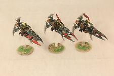 Warhammer Dark Eldar Reaver Jetbikes Pro Painted