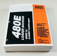 CASE 480E LL Loader Backhoe Landscaper Service Repair Shop Manual Binder Ready