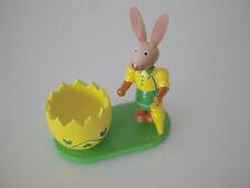 2 er Set Huevera Pascua, Copa de huevo pascua Conejo, Conejo Madera