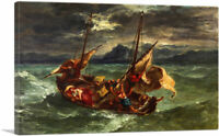 ARTCANVAS Christ on the Sea of Galilee 1854 Canvas Art Print by Eugene Delacroix