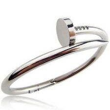 Women Men Stainless Steel Chain Punk Rock Bracelet Bracelet Bangle silver