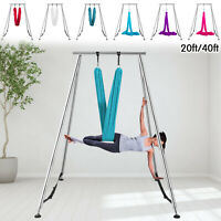 Aerial Stand Yoga Trapeze Frame Yoga Swing Bar Hammock Stand w/Aerial Silk Home