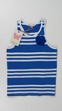 NEW JOHN LEWIS GIRLS BLUE STRIPE VEST TOP RRP £12  in 2, 4 and 5 YEARS