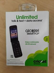 ALCATEL 4G LTE SMARTFLIP CRICKET Wireless HD Voice Wifi Flip Basic NEW Sealed