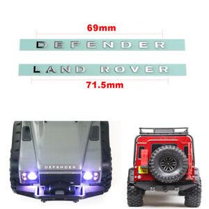 für 1:10 TRX-4 RC 4WD D90 D110 Crawler Truck Aufkleber Metall Decal Logo Kleber