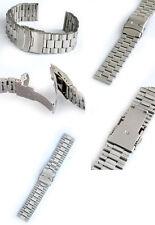 Acero inoxidable relojes pulsera de 22 mm de ancho de alma con de seguridad nuevo faltschliesse