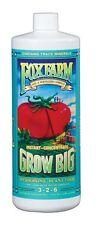 Fox Farm Grow Big Hydro 1 Quart qt 32oz - nutrient fertilizer trio base foxfarm