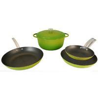 Le Chef 5 Piece Enamel Cast Iron Cookware Set,Palm. on Sale!