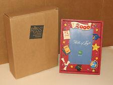 Graduation Gift Russ Co.handpainted Shadowbox Graduation Picture Frame Yr 2000