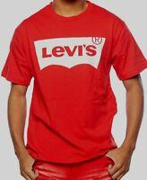 Men's T-shirt LEVI'S Tee Classic Housemark Logo Original Vintage-Red 100% Cotton
