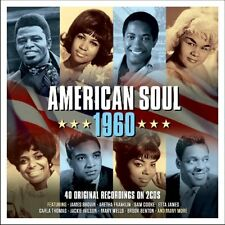 AMERICAN SOUL 1960 - JAMES BROWN, ARETHA FRANKLIN, SAM COOKE,...   2 CD NEUF