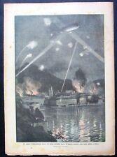 WW1 1916 RIVA BOMBARDAMENTO AEREO DIRIGIBILE ITALIANO Cadorna in Francia