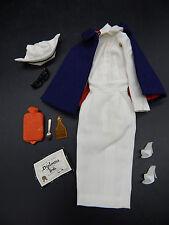 1962 vintage Mattel Barbie REGISTERED NURSE outfit 991 complete nice dress 100%!