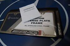 Mercedes Benz Genuine Stainless Steel AMG Carbon Fiber License Plate 6880123