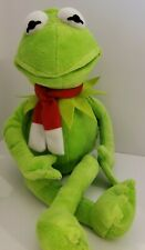 """Jim Henson Muppets Kermit The Frog With Red Christmas Scarf 18"""" Plush Stuffed"""