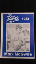 1982 Anchorage Glacier Pilots Minor League Baseball Card Rookie Mark McGwire