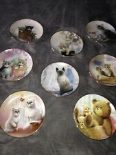 Lot of 8 Franklin Mint Kitten Cousins plates by Ruane Manning