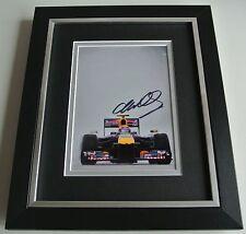 Mark Webber SIGNED 10X8 FRAMED Photo Autograph Display Formula 1 Sport & COA
