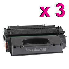 3 x Toner Cartridge Q7553X for HP 53X Laserjet P2014n P2015d P2015dn M2727nf