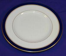 """MINT! Pristine Royal Worcester HOWARD COBALT BLUE 8"""" SALAD Plate Gold ENGLAND"""