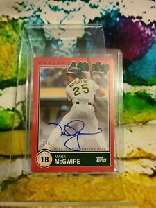 MARK MCGWIRE AUTO #BKA-MMC 2020 Topps Brooklyn Collection Red 4/5 Autograph card