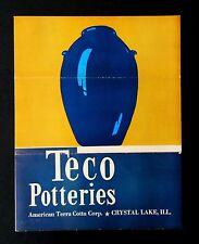 Teco Potteries American Terra Cotta Brochure Original Catalog